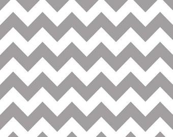 Gray chevron- Riley Blake Designs- Medium Chevron in Gray  1.5 yards