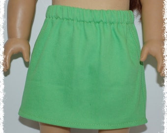 "18"" Doll Denim Jean Skirt - Flash Green (18"" doll - American Girl)"