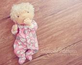 PDF Doll or Premature baby sleeper pattern