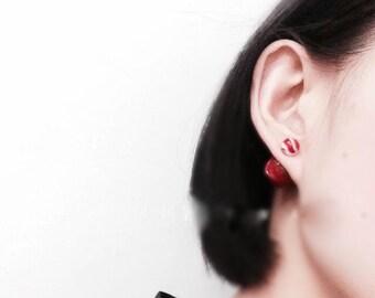Marble balls earrings