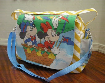 Disney Mickey and minnie Diaper bag / shoulder and messenger bag