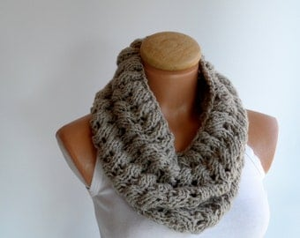 Cowl, Chunky scarf,  Neckwarmer, scarf, infinity scarves, Milky brown cowl...