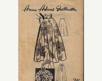 ON SALE VTG Anne Adams 4970 Full circle Skirt Pattern, Size 26 Waist