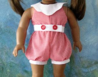 Romper Sunsuit or Short Jumpsuit for 18 inch dolls