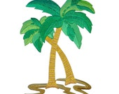 ID 1734 Large Palm Trees Patch Tropical Beach Theme Decoration Iron-On Applique