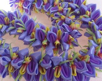 Purple Sunset ribbon lei