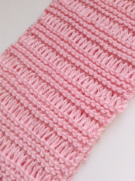 Pretty 'n Pink Cowl Knitting Pattern, Lace Knit Cowl ...