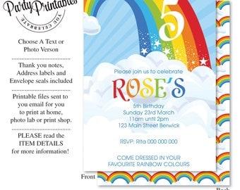 Rainbow Party Invitation | Rainbow Party Invitation Printable | Rainbow Party | Party Printables
