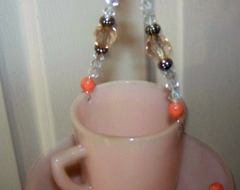 Simply Peachy Tea Cup Wind Chime