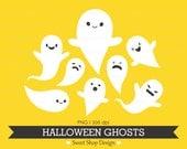 Ghosts Clip Art, Halloween Clip Art, Royalty Free Clip Art, Halloween Ghosts, Instant Download