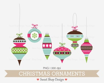 Christmas Ornaments Clip Art, Digital Clip Art, Holiday Clip Art, Digital Clip Art, BGPB6, Instant Download