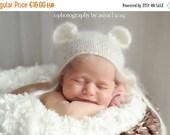 SALE -20%OFF Newborn Mohair Ear bear bonnet-Baby knit mohair bonnet-newborn photography