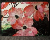Glass Cutting Board - Pink Dogwood - 7.75in  x 10.75in