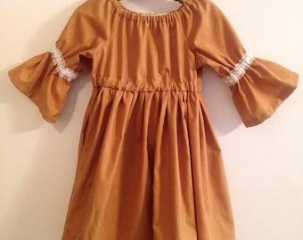 Kids Matilda Dress - Mustard, Navy or Magenta
