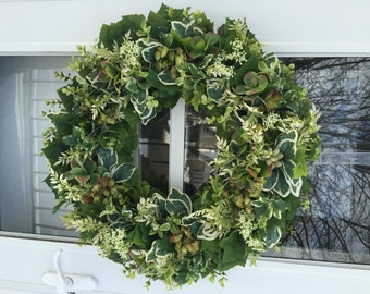 Succulents with Lush Greens Wreath