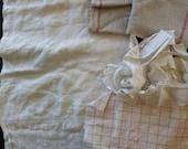 Antique homespun linen pieces