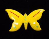 1960's Enamel on Copper Butterfly Brooch