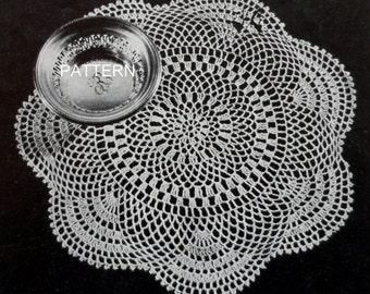 Thread Crochet Doily Pattern, Lace Table Mat, Crochet Cotton Doily Pattern