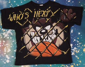 TAZ Who's Next Basketball Cartoon T-Shirt Size M