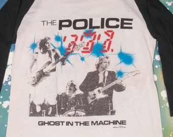 THE POLICE 1982 Ghost In The Machine Tour T-Shirt Size S