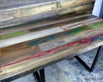 Reclaimed Salvaged Wood Dining Table or Desk #13