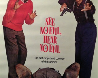 Movie Poster for See No Evil Hear No Evil, 1989