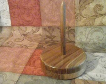 Walnut Yarn Caddy , spinning yarn holders