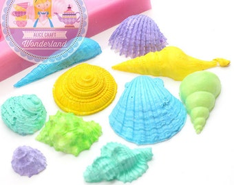 Sea Shells Set Siilicone mold 423L* Cake Decoration Cupcake topping Chocolate Candy fimo Polymer Clay Jewllery diy mold BEST QUALIRY