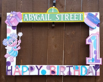 Abby Cadabby or any Theme Party Photo Prop Frame
