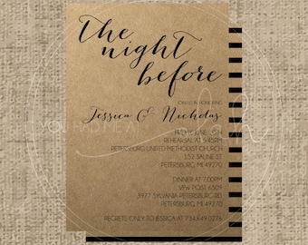 Custom/Printable PDF Rehearsal Dinner Invitation