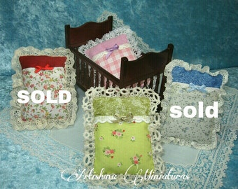 Baby bag for cradle, baby bag miniature handmade, nursery miniature - Dollhouses Miniature scale 1:12
