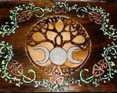 Twining Vine Triple Moon Altar