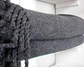 Wool Blanket Handwoven Da...