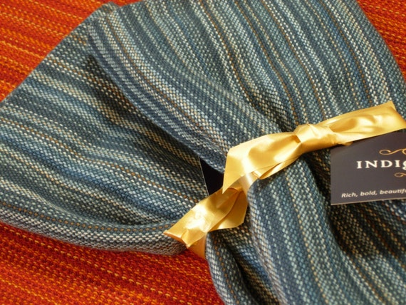 Handwoven Cotton Towel Blue Blueberry Patch dark 100% Cotton 20 x 30 inches