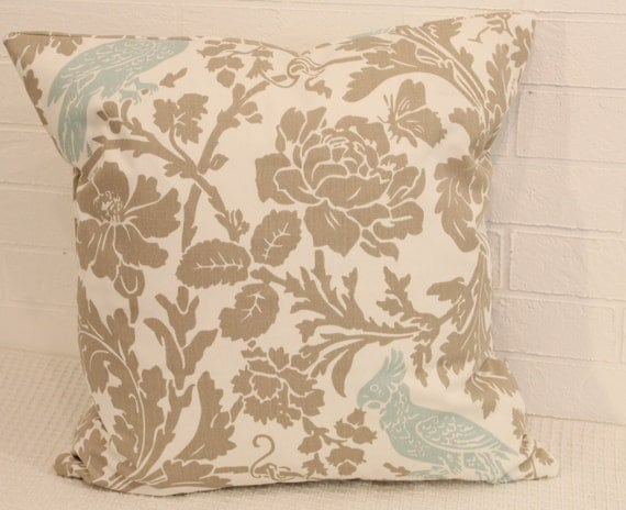 "17"" x 17"" Botanical Throw Pillow Cover"