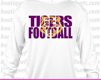 Tigers Football SVG Cut Files - Instant Download