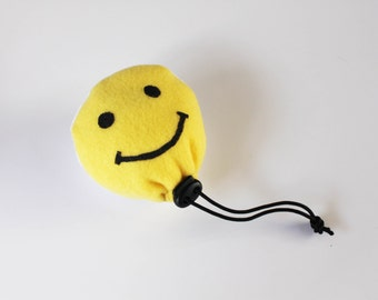 Large Smiley Face Chalk BALL - Rock Climbing Chalk Bag