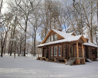 Berry College Roosevelt Cabin in Snow