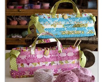 Carry Me Bag Pattern by  Bunny Hill Designs - 1.5 inch strip friendly