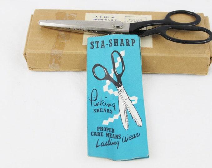 Vintage 1950s Sta–Sharp Pinking Shears, Craft Scissors