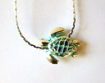Turtle  necklace -Turtle RING - blue necklace - Animal, Jewelry Rings, Turquoise Jewelry -Adjustable Ring