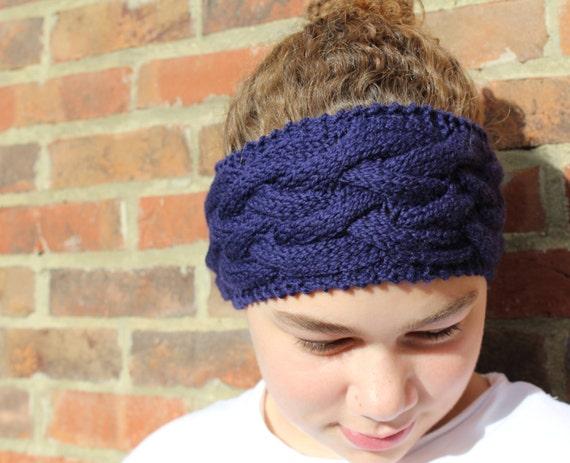 Beginner Ear Warmer Knitting Pattern : KNITTING PATTERN Cable Headband Pattern Double Dutch Three ...