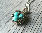 Wire Wrapped Bird Nest Necklace * whimsical outdoors nature lover valentine's for her adventure