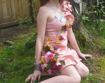One of a kind flower girl fairy boho hippie festival Burningman dress size small