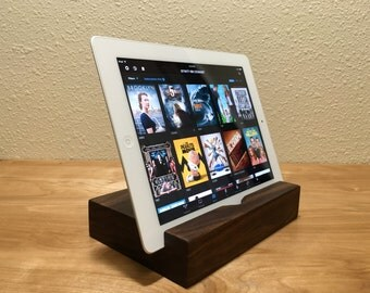 iPad Docking Station | Wood iPad Docking Station |  FREE ENGRAVING | Any Tablet Docking Station | Smart Eye Dock Station Movie Watching
