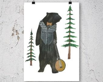 Woodland Nursery Decor - Woodland Nursery - Nursery Print - Forest Nursery - Forest Nursery Decor - Animal Print - Watercolor Print