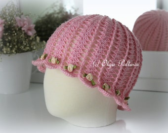 Crochet Hat Pattern For 6 Year Old : Girls Summer Hat Crochet Pattern Size 3-5 Years Old
