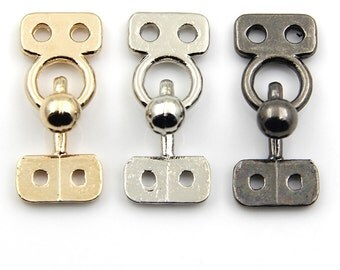 4 pcs 0.71~0.98 inch Gold/Gun black/Silver Clasp Hook and Eye Buttons for Mink Fur Coats/Sweaters