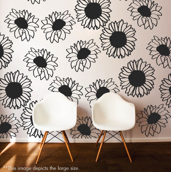 Sunflower Vinyl Art Wall Stickers by danadecals