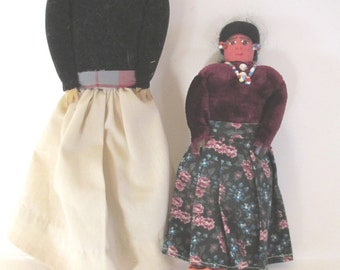 Native American inspired Navajo style dolls, folk art dolls, collector dolls